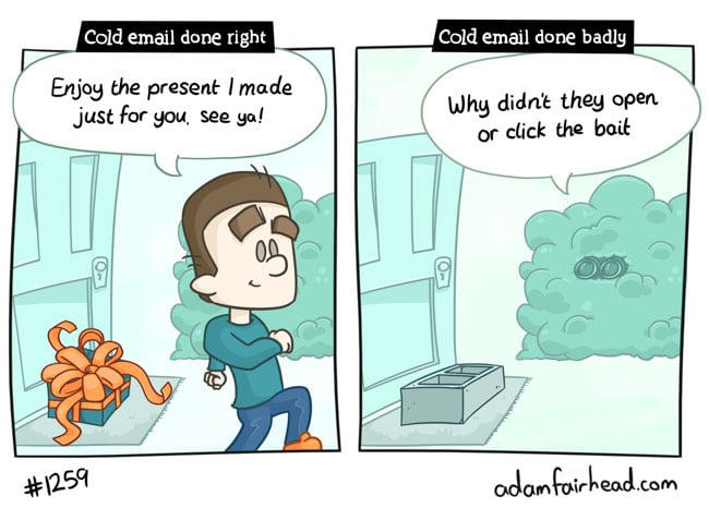 Good VS Bad Cold Email